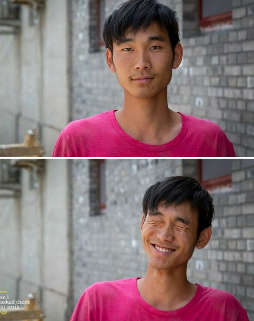 He Was Standing One Morning, Outside The Open Door To A Home In An Old Hutong Neighborhood, Near The Forbidden City In Beijing, China... So I Asked Him To Smile