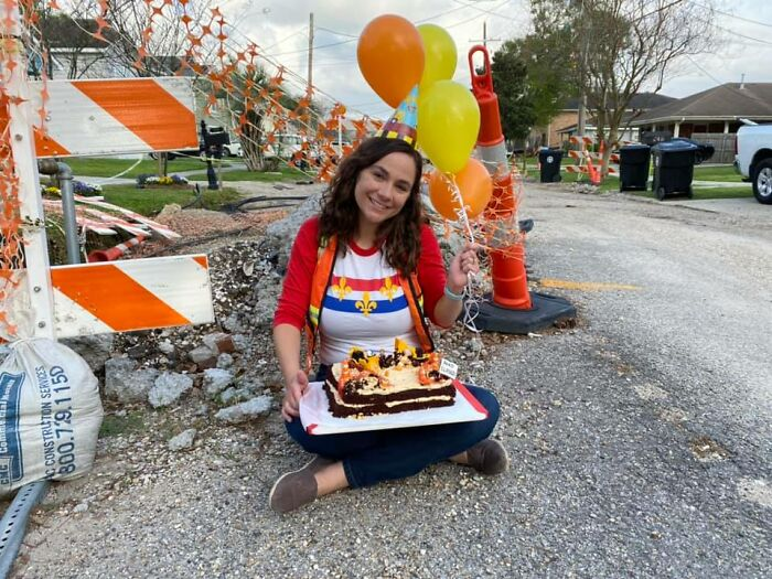 1-Year Birthday Party For Incomplete Road Construction Goes Viral And Finally Gets Authorities' Attention
