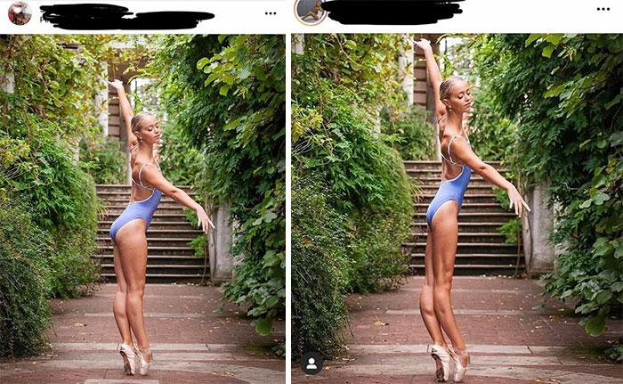 Photographer's Page vs. Model's Page