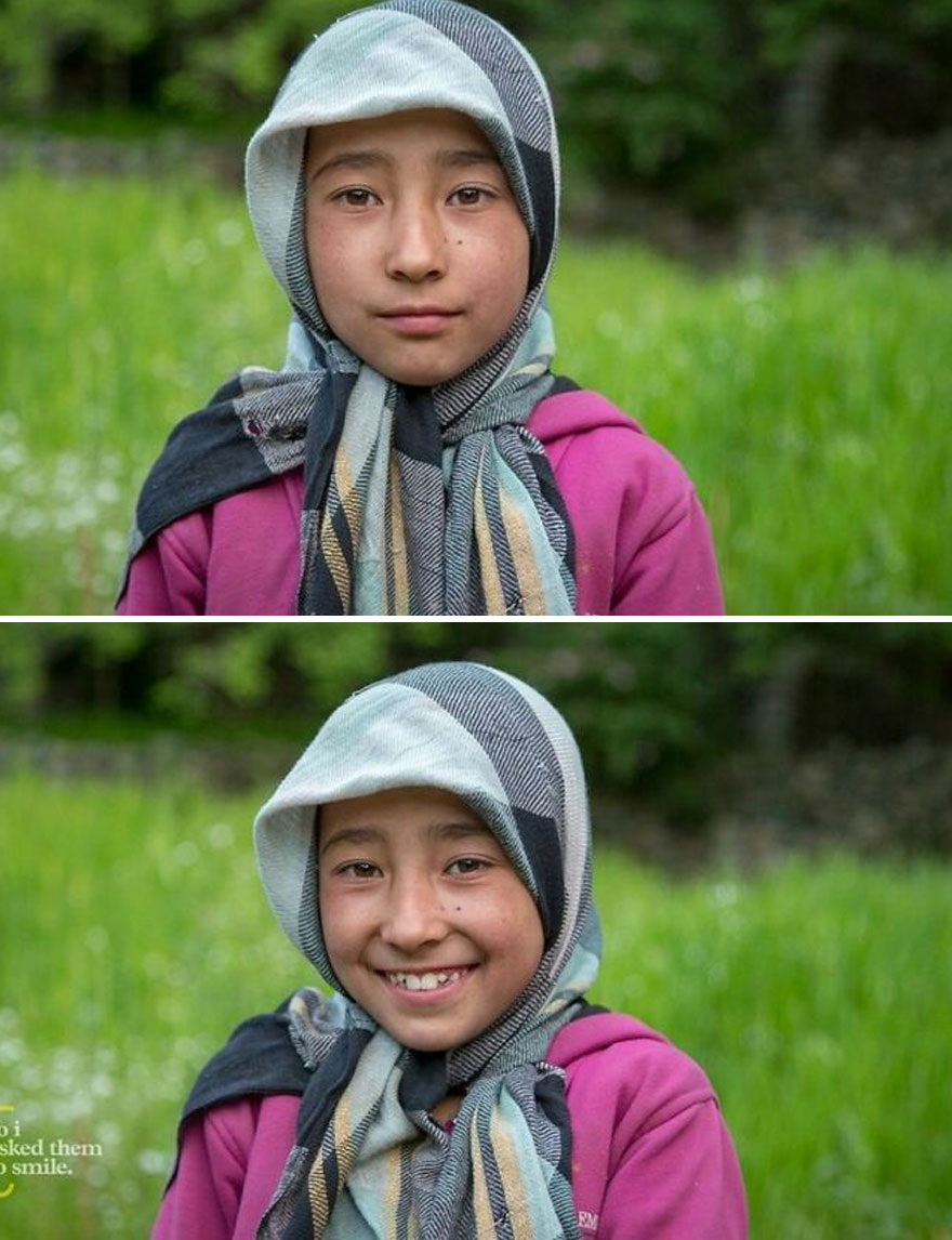 She Was Playing With A Friend One Evening Outside The Family House In The Village Of Turtuk, Ladakh, India... So I Asked Her To Smile