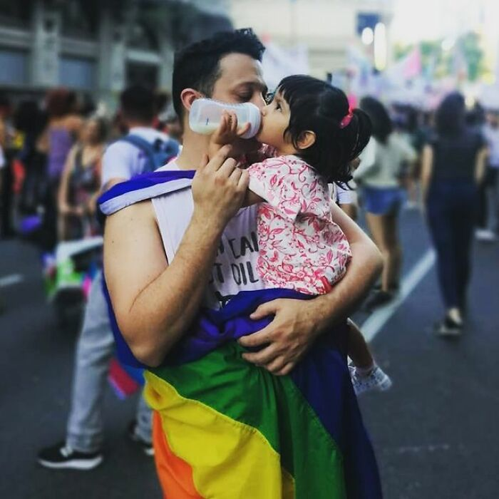 Single Gay Guy Fulfills His Dream Of Being A Father, Adopting A Girl That Spent 1 Year In The Hospital