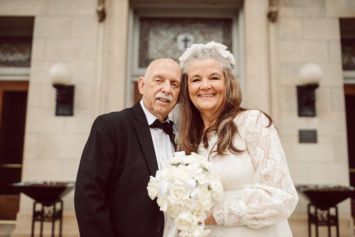 Couple Recreates 12 Wedding Photos For Their 50th Anniversary