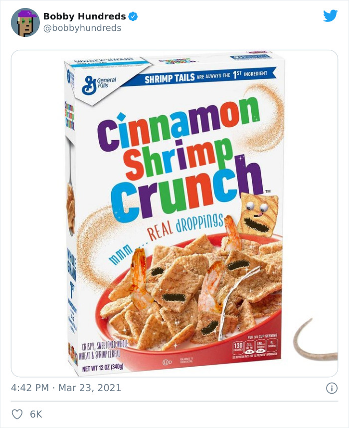 Person Finds Shrimp Tails In His Cinnamon Crunch Cereal, The Company Says It's Just 'Sugar', People React With Memes