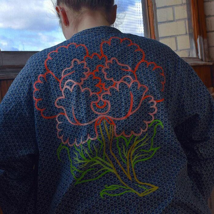 Flower On Shirt