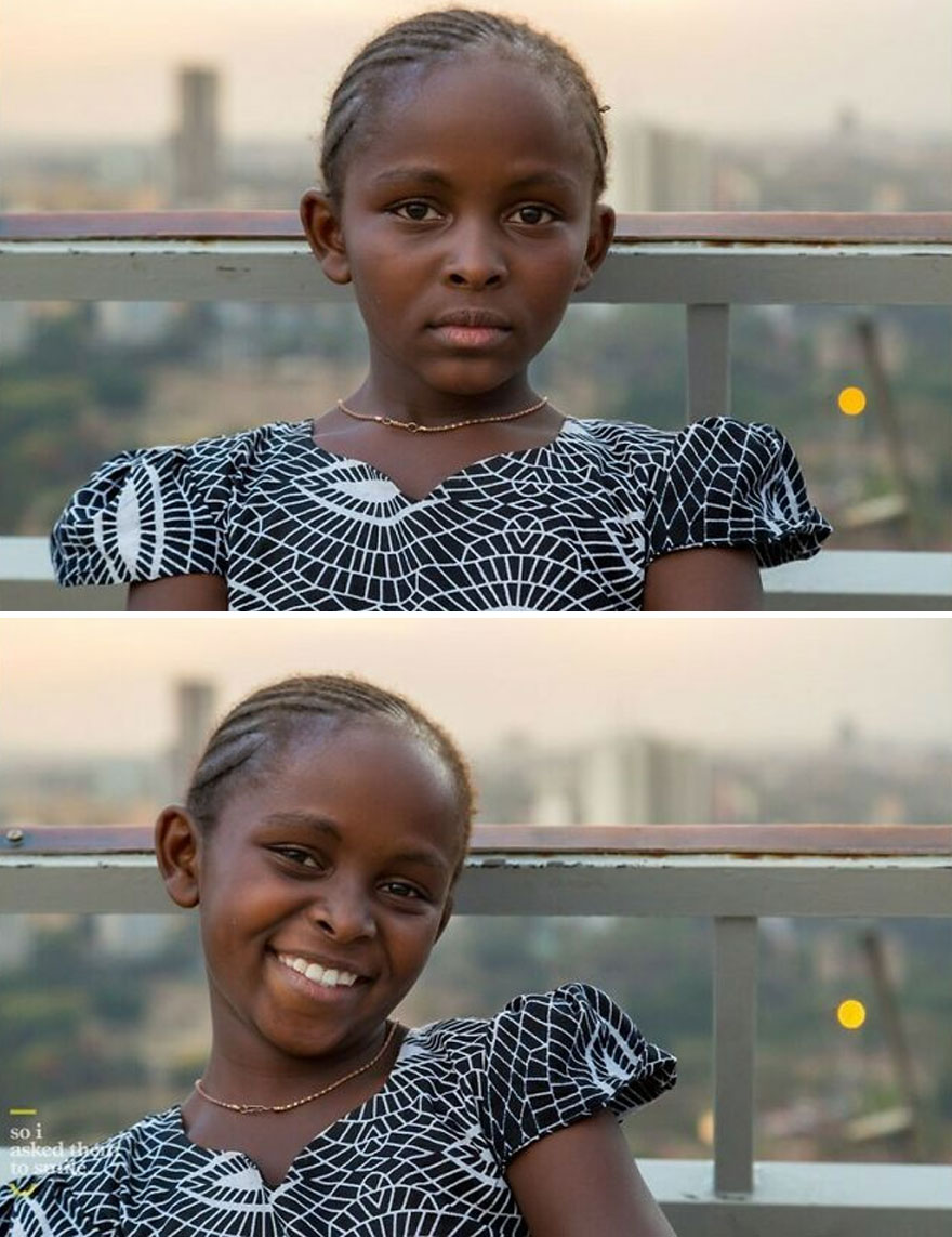 She Was With A Group Of Dancers, Taking A Break From Recording A Church Choir Music Video On The Helipad Of The Kenyatta International Convention Center, While The Sun Set Over Nairobi, Kenya... So I Asked Her To Smile