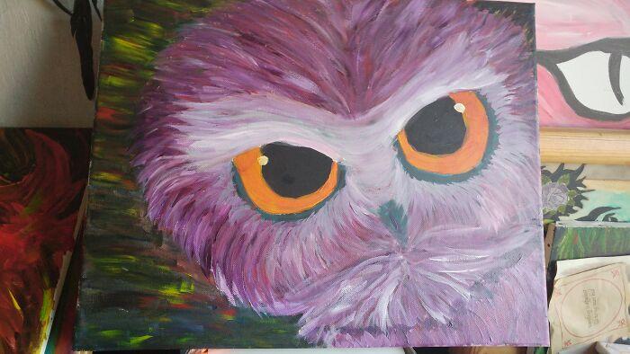 My Owl Painting :)