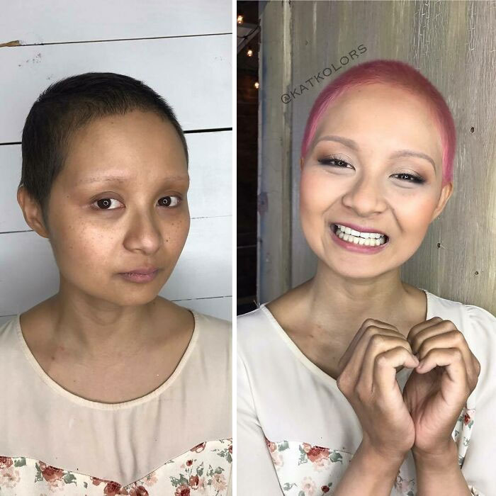 Before-After-Hair-Color-Change
