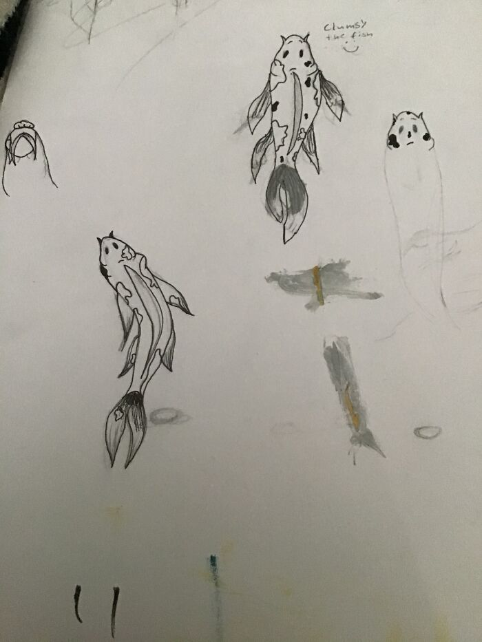 I Learned How To Draw Koi Fish Sorry For Mess