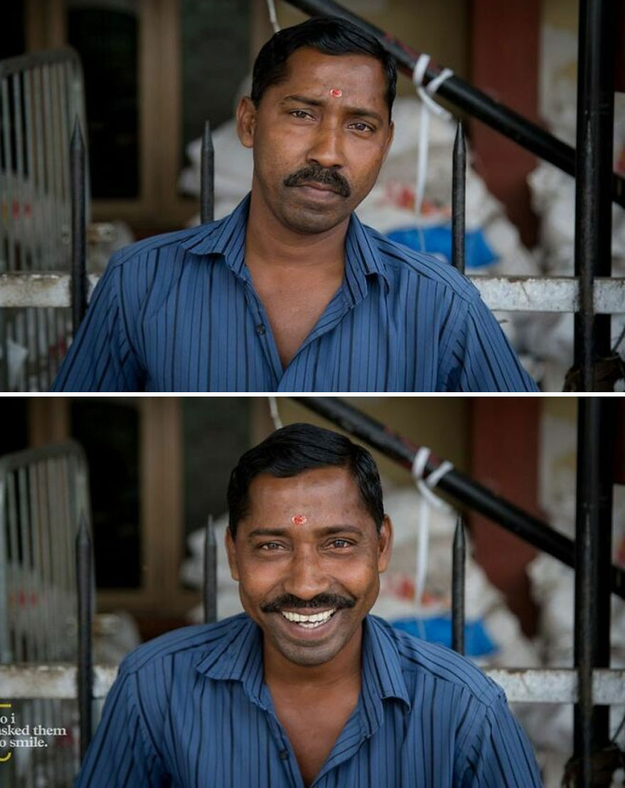 He Was Standing At His Stall, In Front Of The Train Station One Afternoon, As The Entire City Of Thiruvananthapuram Went On A Three Day Strike In Kerela, India... So I Asked Him To Smile
