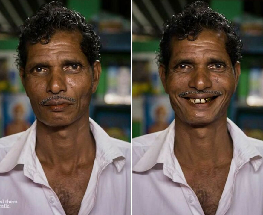 He Was In His Dimly Lit Shop As The Sky Faded Into Night In The Village Of Tharangambadi, As We Waited For A Bus In Tamil Nadu, India... So I Asked Him To Smile