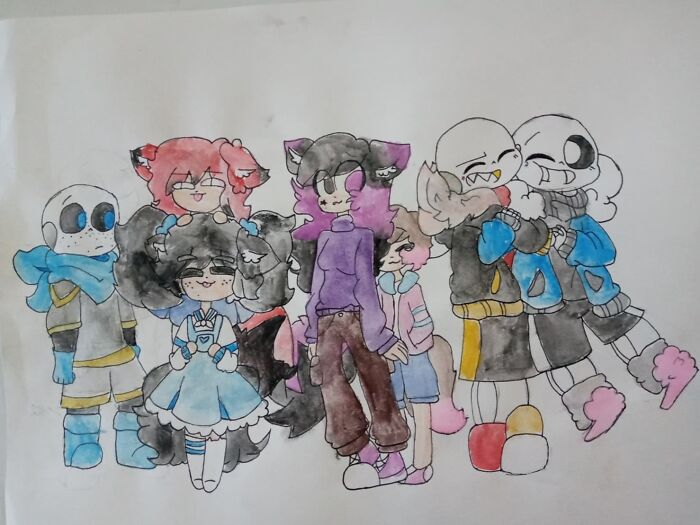 Some Of My Oc's Hanging With Some Sans's
