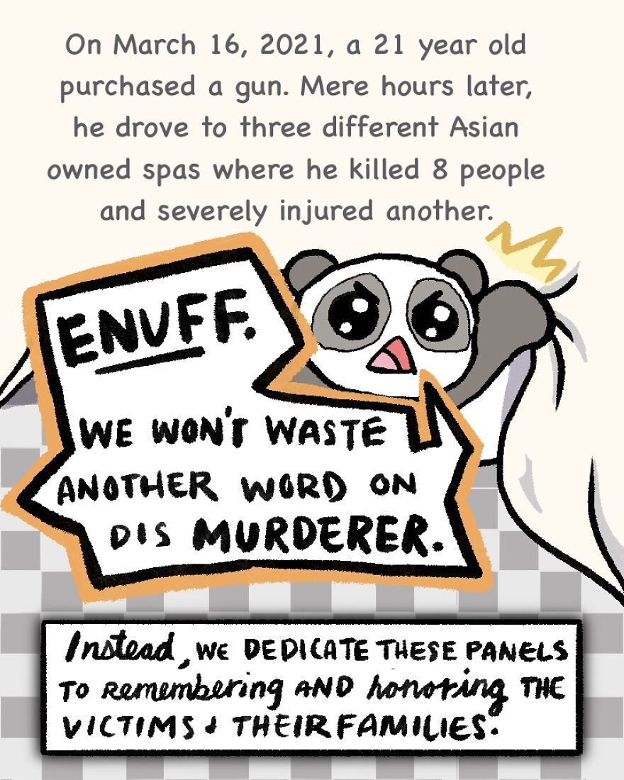 I Created Illustrations In Memory Of The Atlanta Spa Attack Victims To Raise Awareness About Racial Hatred
