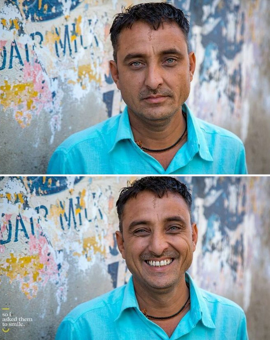 He Was Walking Down A Street With A Group Of Pilgrims One Morning, As I Wandered The Ancient Pilgrimage Town Of Dwarka In Gujarat, India... So I Asked Him To Smile