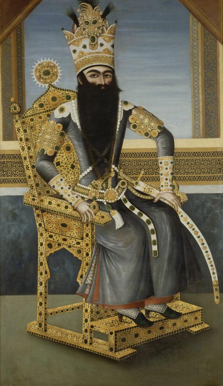 Portrait Of Fath Ali Shah By Mihr Ali Painter (1800 - 1806)