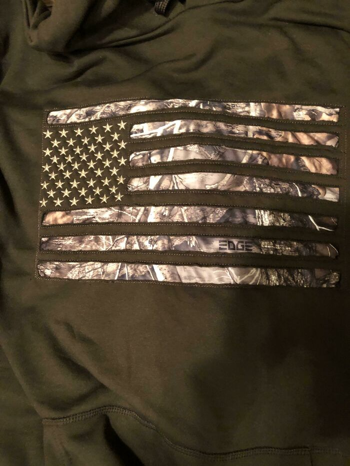 The American Flag On My Dad's New Hoodie