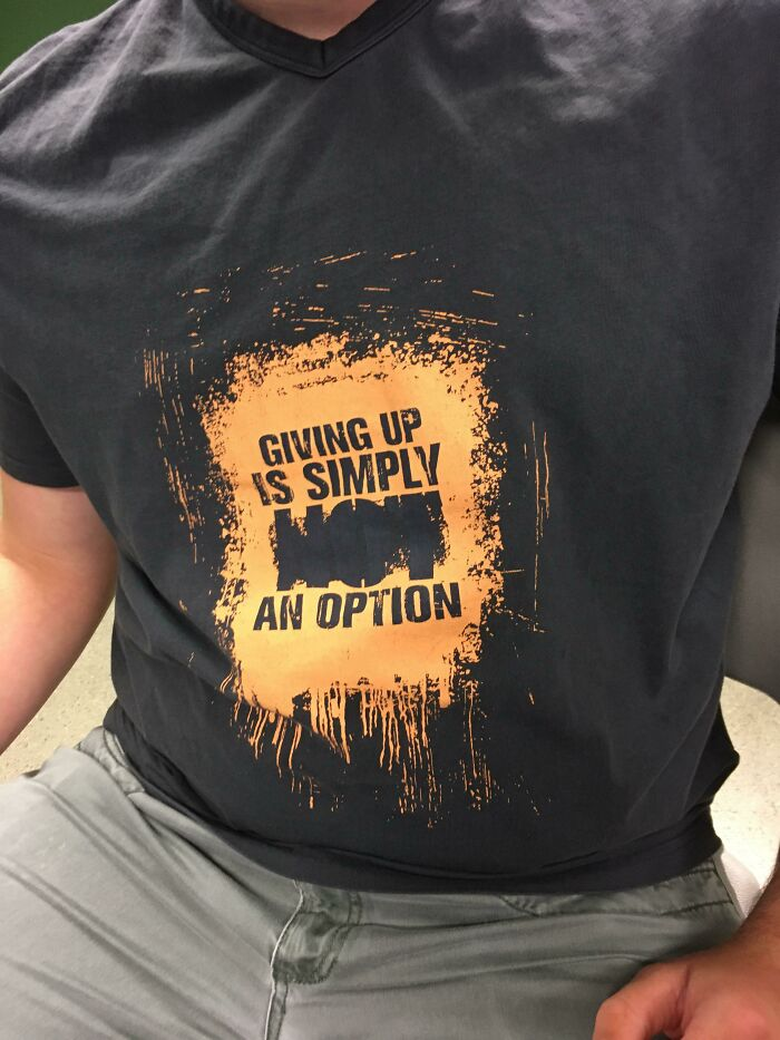 Giving Up Is Simply An Option