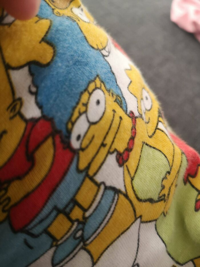 Marge Simpson Has Two Mouths On The Official Simpsons Pajamas