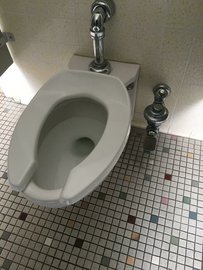 My School's Bathrooms Have Pedals Instead Of Handles