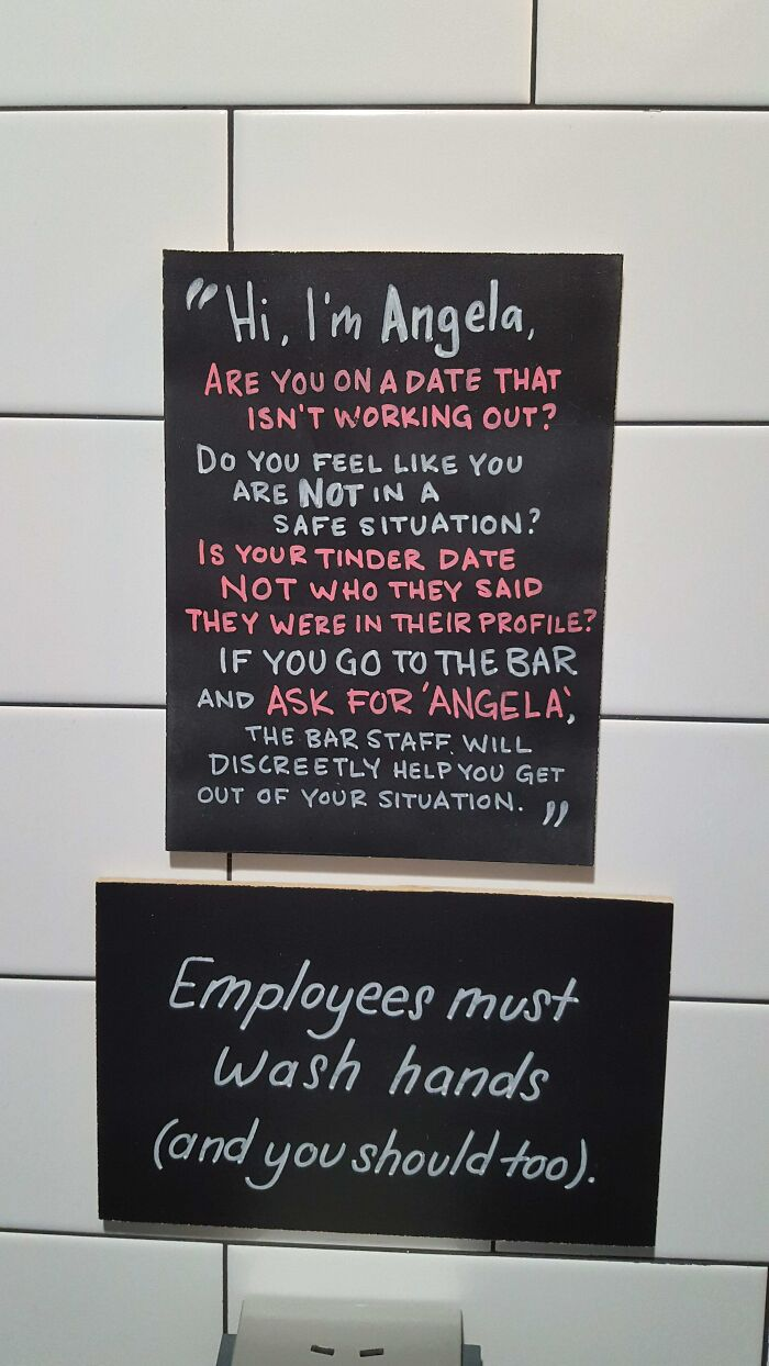 This Brewery Has A Sign In The Bathroom That Offers A Backup Plan In Case Your Date Isn't Going So Well