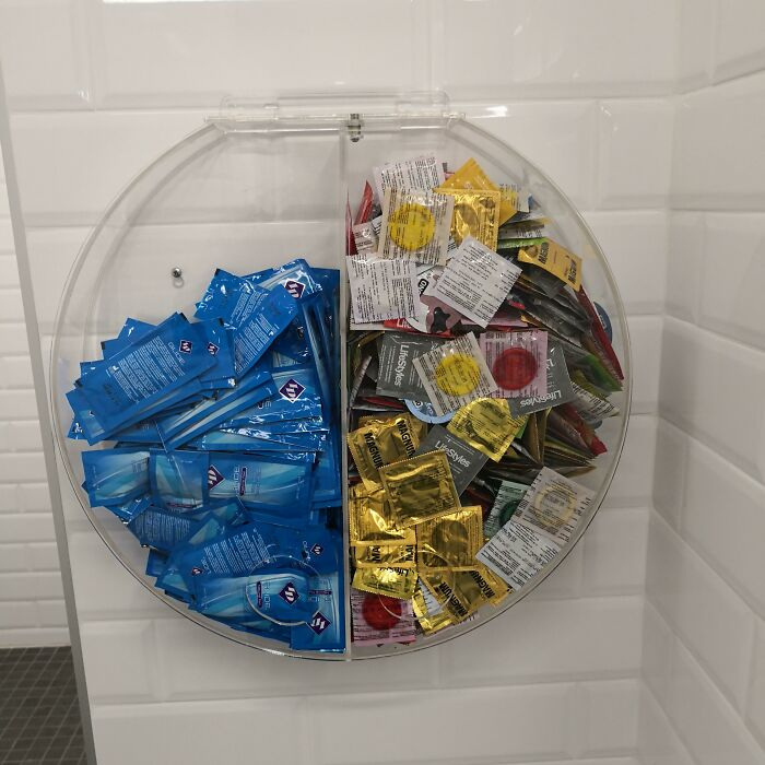 University Gym Girls' Bathroom Has Not Only Free Condoms, But Free Lube