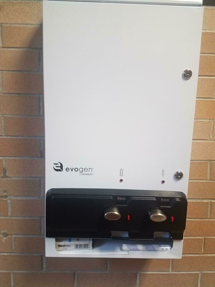 My School Put Free Pad And Tampon Vending Machines In The Girls' Bathrooms