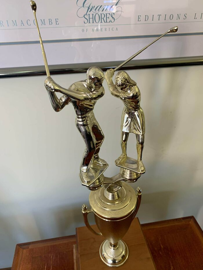 Is This Trophy For Golf, Or Assault?