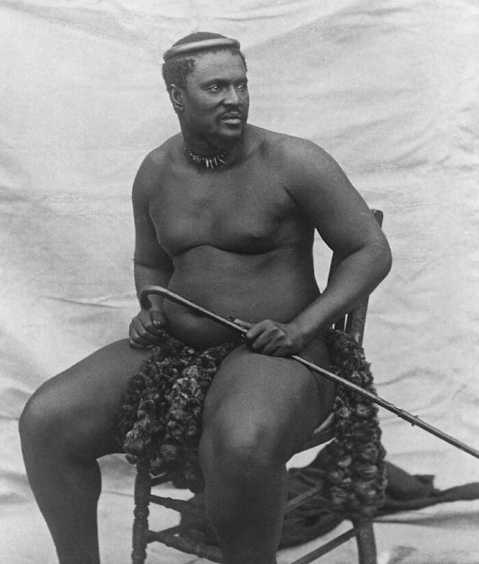 Cetshwayo, King Of The Zulu Who Defeated The British At The Battle Of Isandlwana, 1878