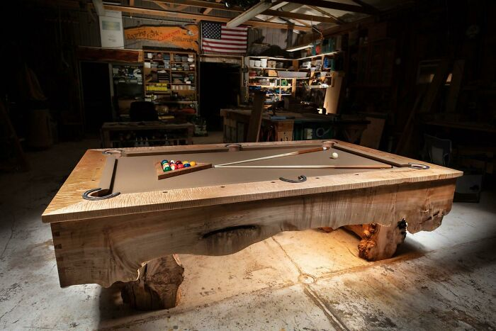 A Recent Pool Table We Built