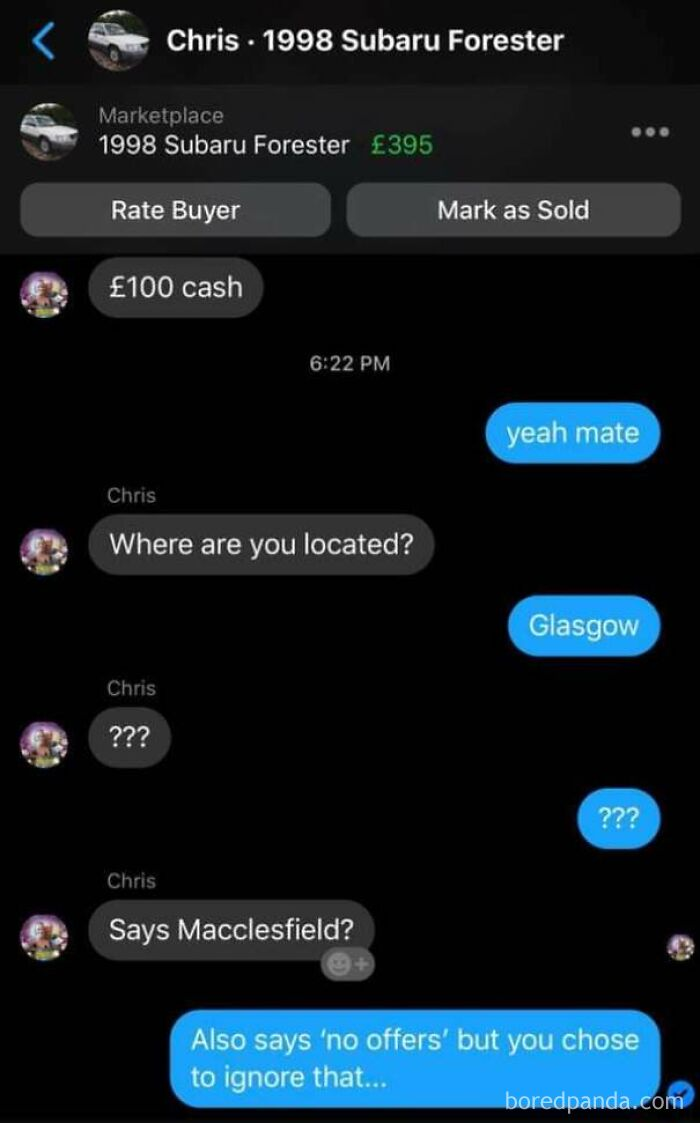 Marketplace Beggar Suffers With Selective Reading