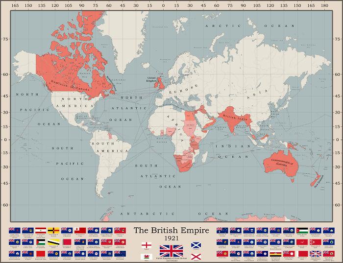 The British Empire At It's Territorial Peak
