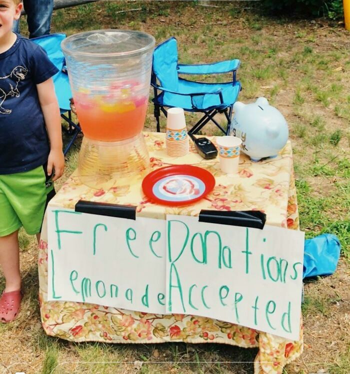 I Would Like A Free Donation. Also, Here's My Lemonade...