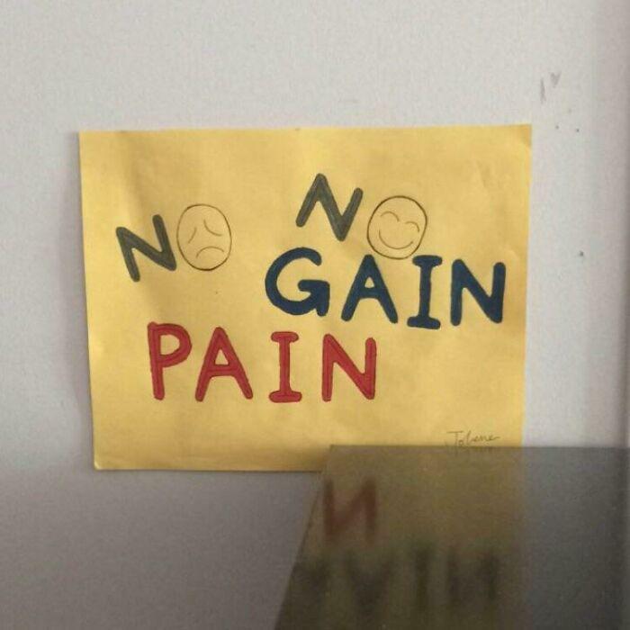 No No Gain Pain