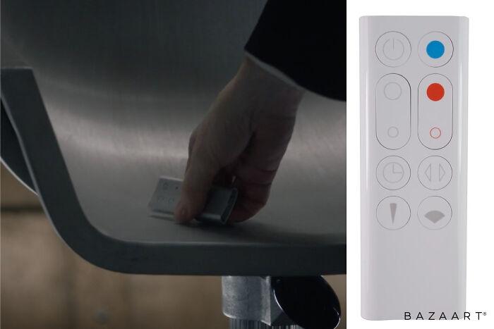 Watchmen's interrogation chamber's remote is a Dyson fan controller.