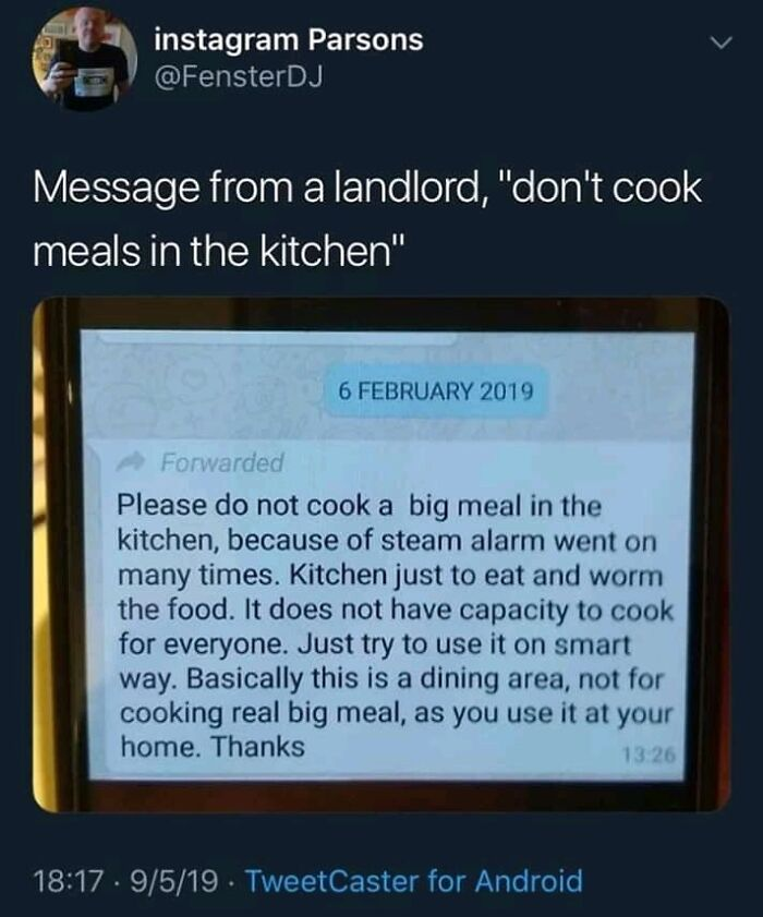 Cook The Landlord Instead