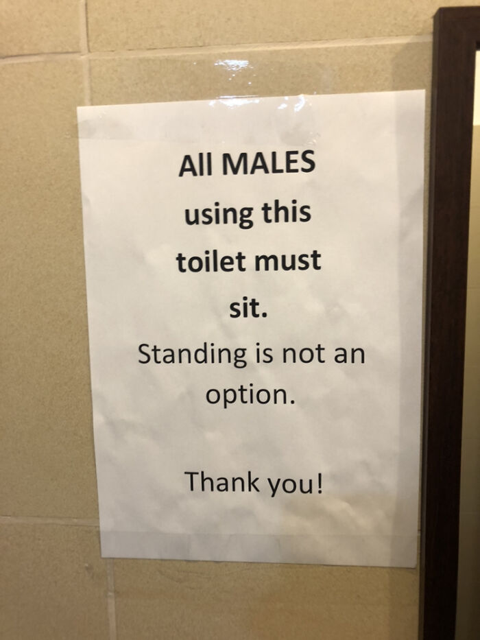 Standing Is Not An Option