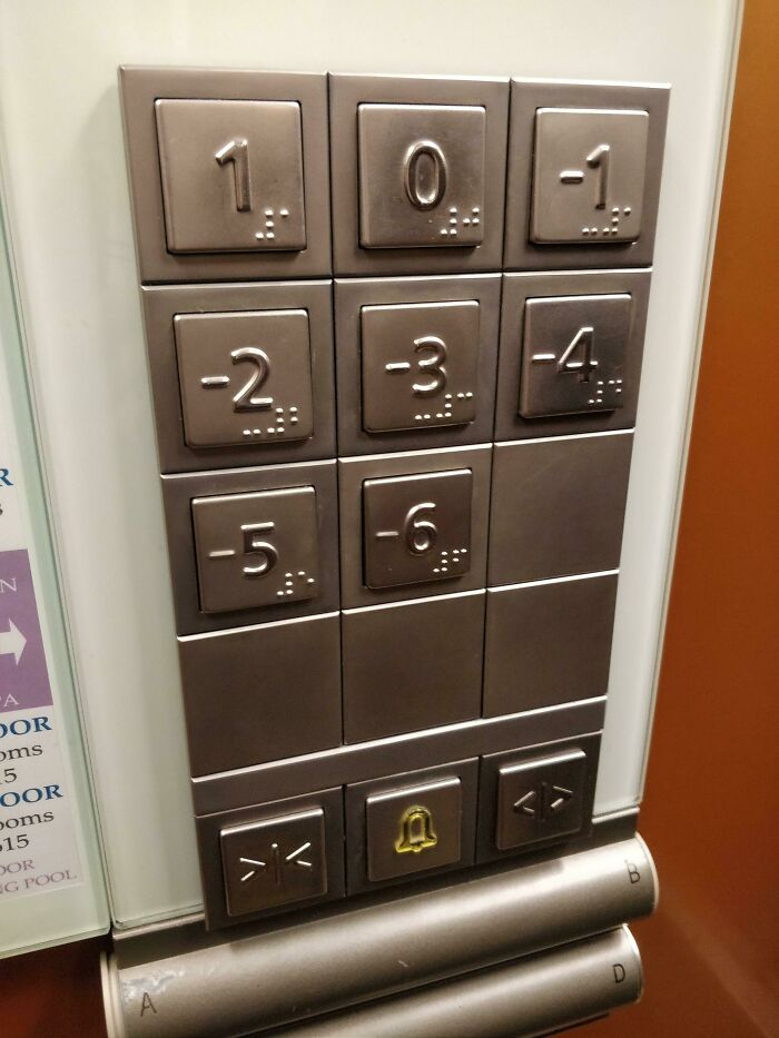 This Hotel Descends Down The Side Of A Cliff, So The Elevator Floors Are In Negatives