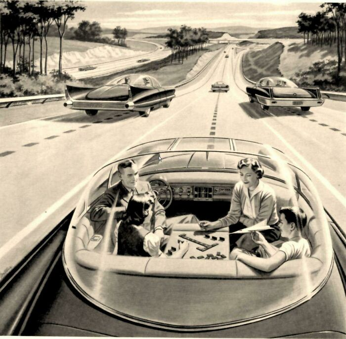 Self Driving Cars Of The Future, Circa 1960