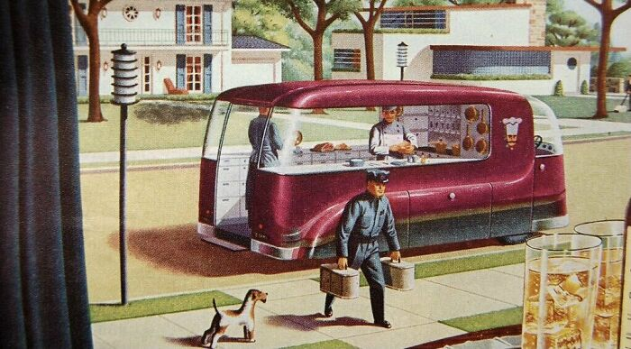 1940s Vision Of Food Delivery Future