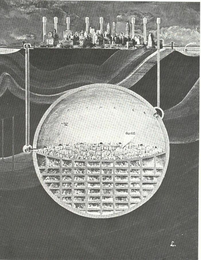 Nuke-Proof Underground City Below Manhattan, 1969 (Oscar Newman)