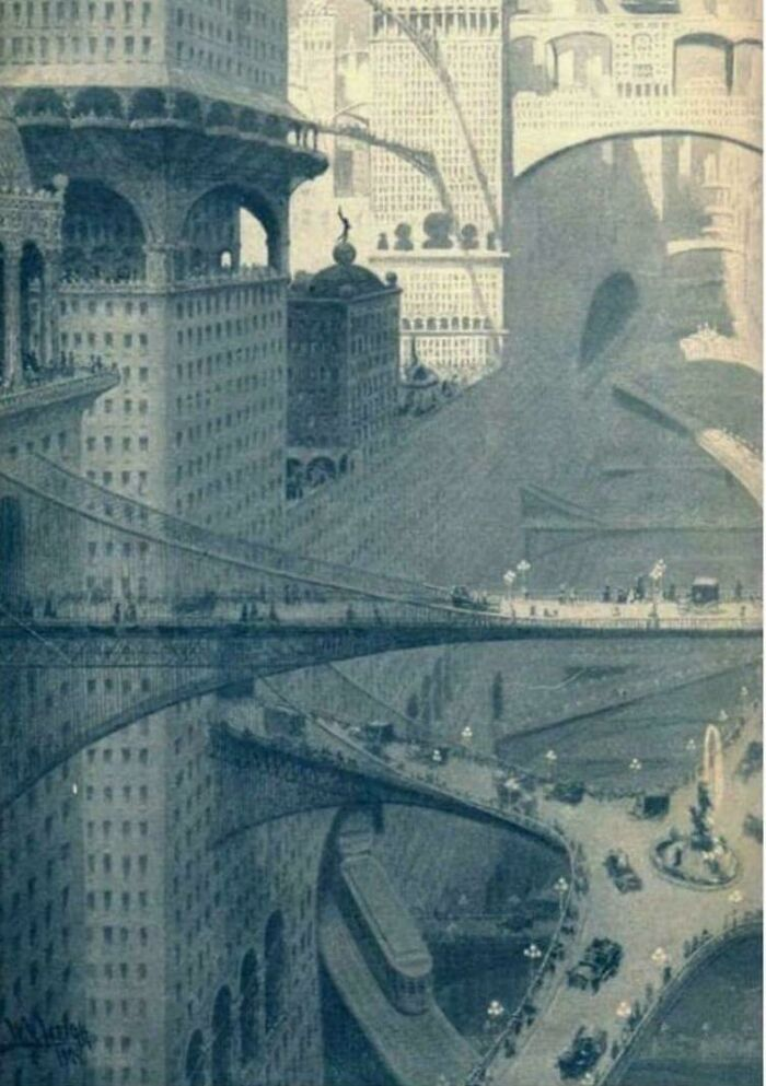 City Of The Future As Imagined In 1908