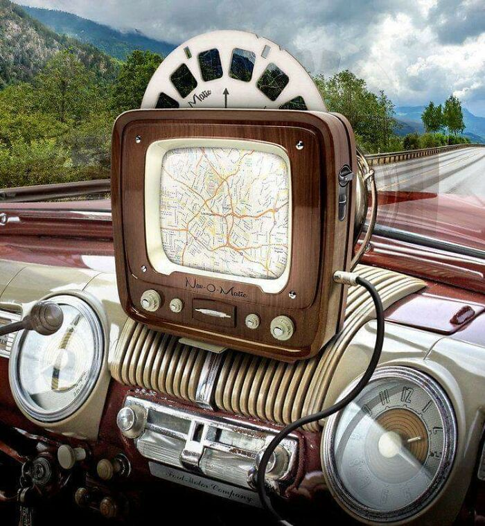A Fifties Navigation System. Don't Know Who Imagined This But I Love It!