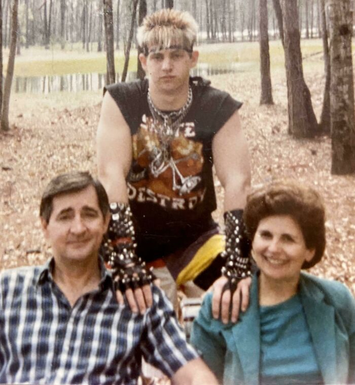 My Poor Parents... Being Nice To Me Back In 1987 During My Billy Idol Skateboarding Phase