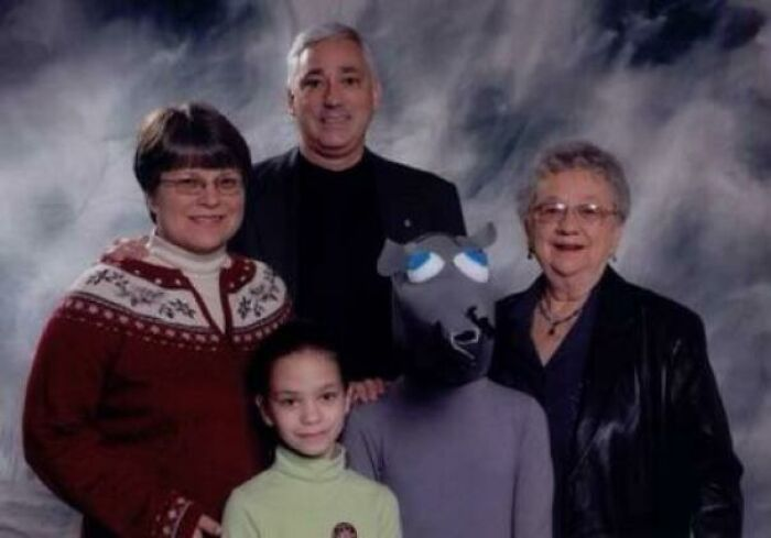 My Girlfriend's Childhood Family Picture. She Was Really Excited About Being A Rat In The Nutcracker