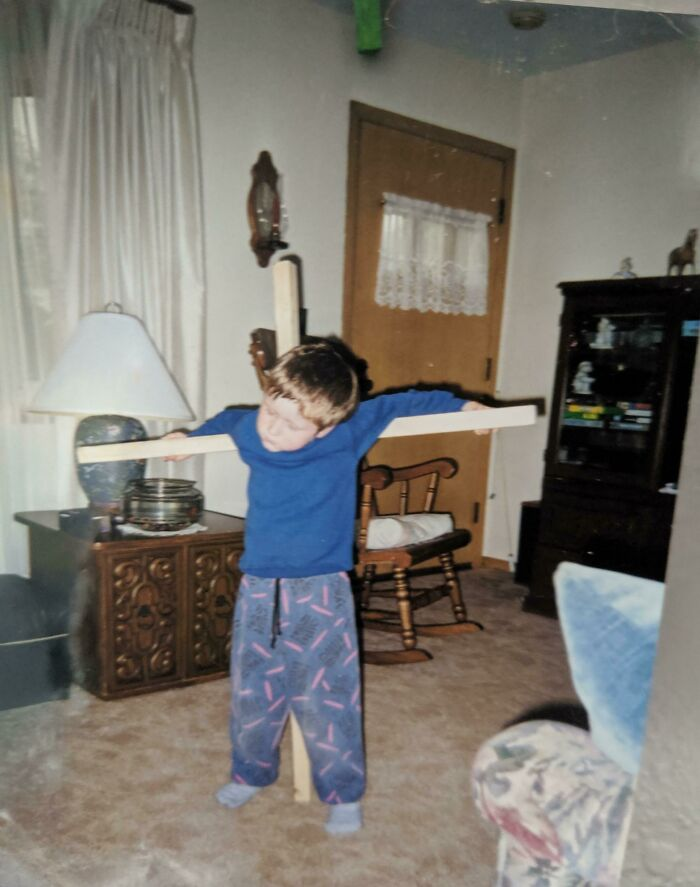 My Parents Built Me A Cross So I Could Play Christ In 1998