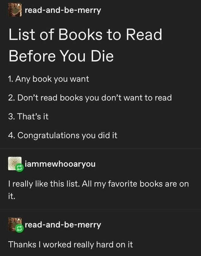 Read Whatever You Want