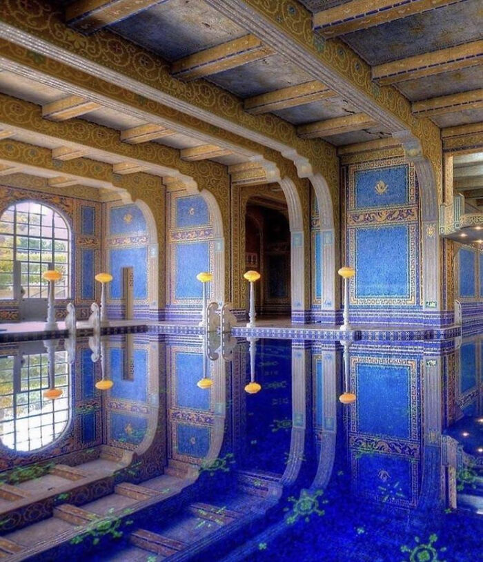 """""""Azure Blue Pool"""" At Hearst Castel, San Simeon, California. It Was Built By Architect Julia Morgan Between 1919 And 1947"""