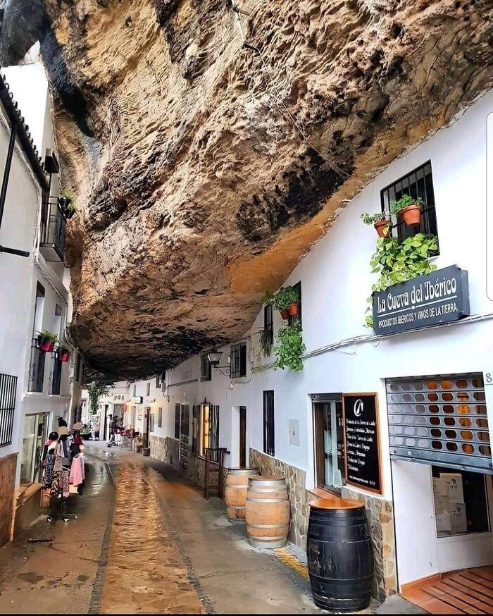 Setenil De Las Bodegas In Cadiz, Spain