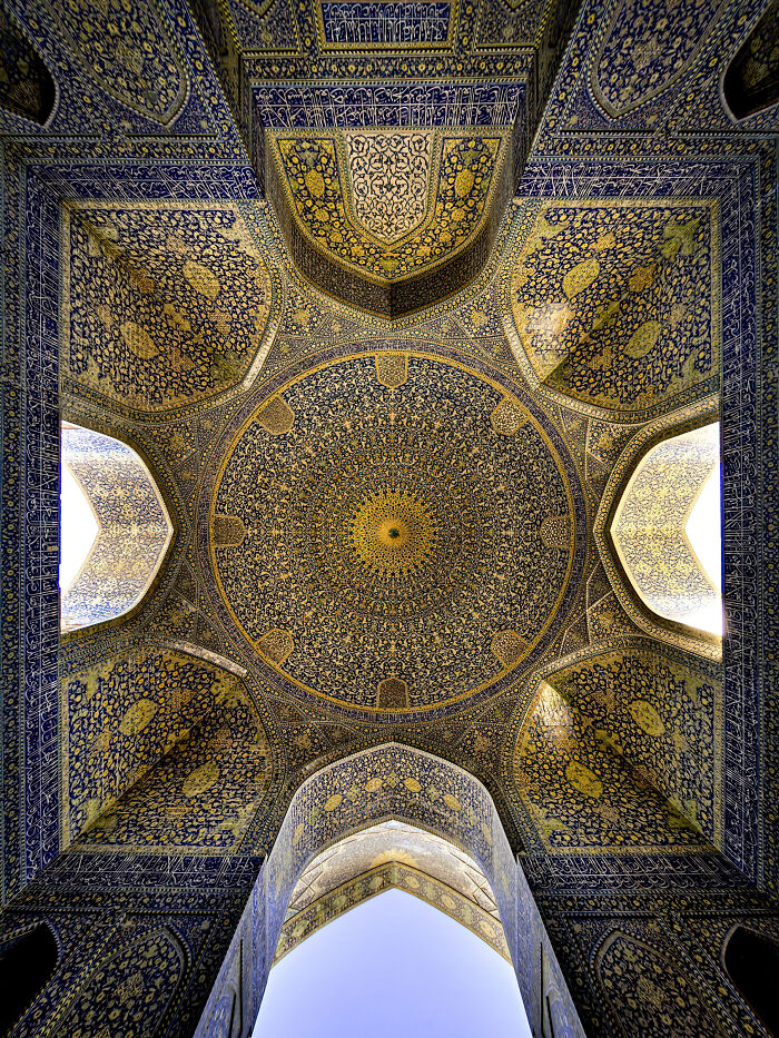 The Ceiling Of The Shah Mosque In Isfahan, Iran