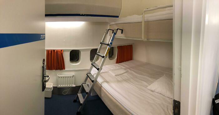 Stayed In A Boeing 747 Converted To Hostel At Arlanda Airport, Sweden
