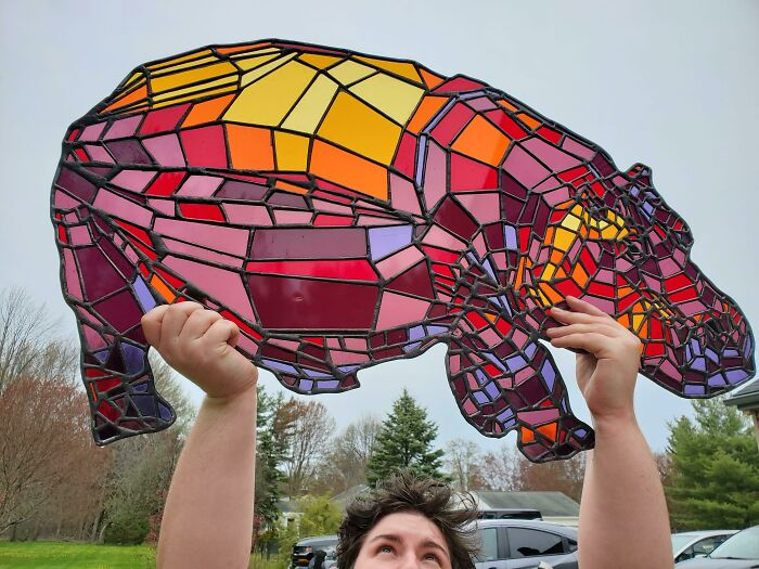 I Finally Finished My Giant Stained Glass Hippo And I'm Dying Because It Looks So Good!!